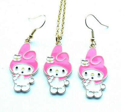 £6.99 • Buy Sanrio My Melody Pink Pendant Necklace & Charm Earrings Hello Kitty Gift Box