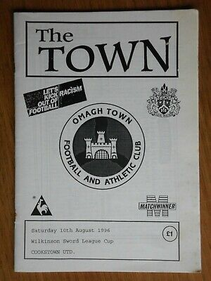 £2.99 • Buy OMAGH TOWN V COOKSTOWN UNITED 1996-1997 Irish League Cup