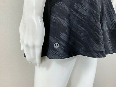$ CDN50.74 • Buy LULULEMON Ace Skirt Skort Black Scratch Match Multi Size 10 - NTSF