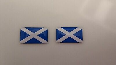 Scotland Domed Sticker Flag Domed Sticker Flag 2 Sticker 25x15mm Car Decal • 2.49£