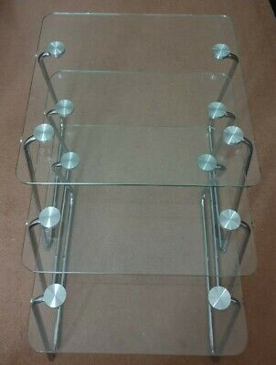 Nest Of 3x Glass Tables • 38£