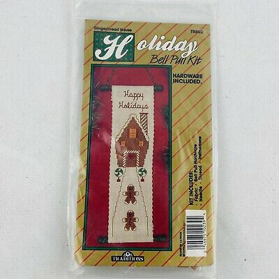 Traditions Holiday Bell Pull Kit Gingerbread House T8802 Counted Cross Stitch • 5.78£