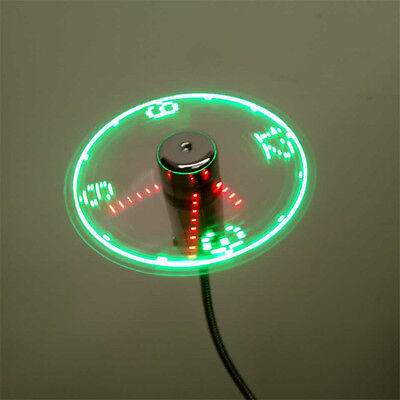 AU19.10 • Buy USB Mini Flexible Time LED Clock Fan With LED Light Gadgets Cool Fan  R L Nh