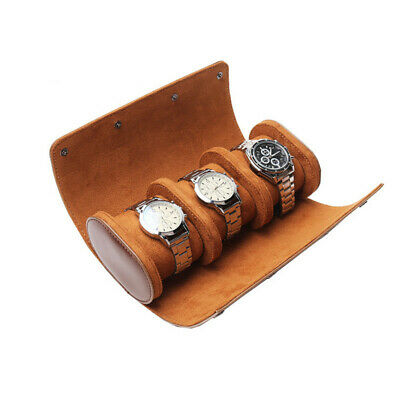 $ CDN37.54 • Buy 3-Slot PU Lleather Watch Box Portable Roll Storage Case Button Jewelry Organizer
