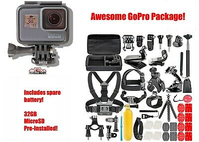 $ CDN202.98 • Buy GoPro HERO5 HERO 5 Black Edition: Spare Battery, 40 Piece Sports Kit, 32GB SD!