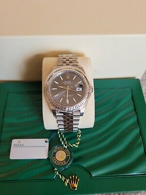 $ CDN14026.72 • Buy NEW Rolex Datejust 41 Steel & 18k WG Rhodium Dial Watch Box/papers  126334