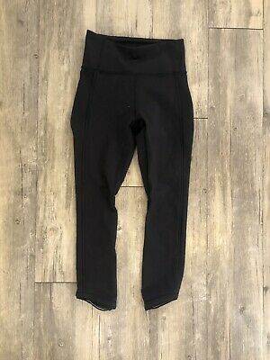"$ CDN1.64 • Buy Lululemon Wunder Under 2 High Rise Waist  Leggings Black 22"" Mesh"