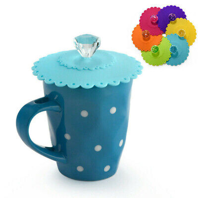 £2.49 • Buy Silicone Cup Lid Glass Drink Cover Antidust Coffee Mug Suction Seal Lid Cap 2021