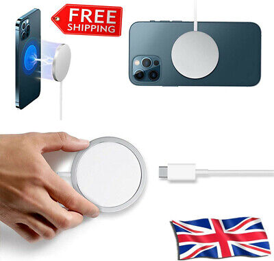15W Magnetic Magsafe Fast Charging Charger Pad For IPhone 12 Pro Max 12 Mini • 5.99£
