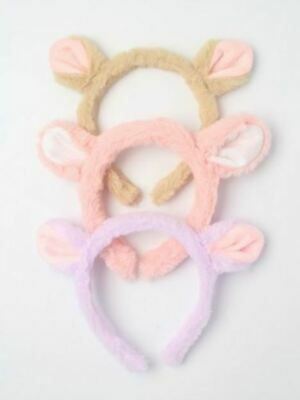 £3.59 • Buy Childrens Girls Kids Furry Mouse Ears Headband Aliceband Pink Lilac Brown