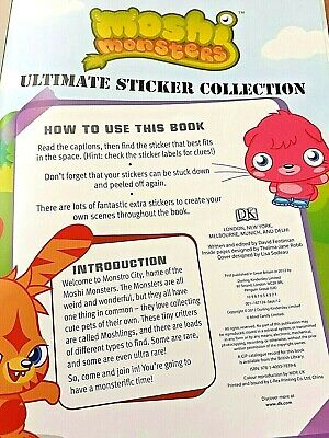 Moshi Monsters Ultimate Sticker Collection By DK (Paperback, 2012) • 2.65£