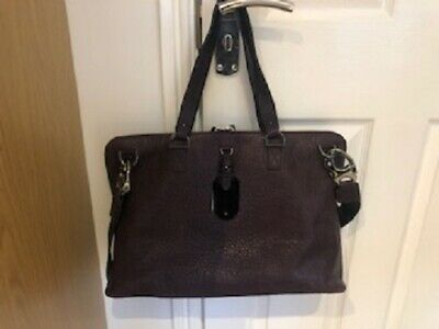 Mulberry Bag Very Large In New Condition, Purple Colour, Ideal Briefcase/laptop • 200£