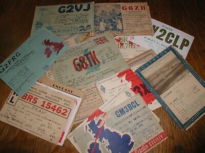 $ CDN6.33 • Buy Lot Of 30 Old Vintage Great Britain UK Ham Radio QSL And SWL Cards Late 1940's