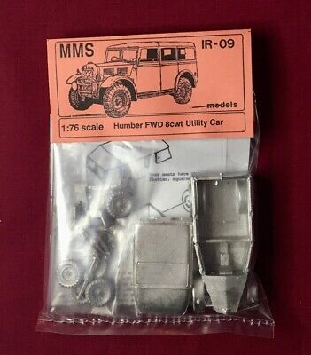 1/76th Scale WW2  HUMBER FWD 8cwt UTILITY CAR - MMS Models White Metal Kit • 13.95£