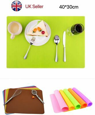 Silicone Large Baking Sheet Work Mat Over Tray Liner Cake Pastry Pizza Non Stick • 4.99£
