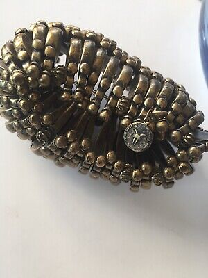 All Saints Heavy Statement Chunky Stretch Bracelet Boho Indie Biker Rock Metal • 29£
