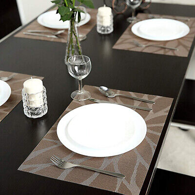 AU24.98 • Buy 6Pcs Dining Table Placemats Coasters Woven Anti-Slip Washable PVC Place Mats LD