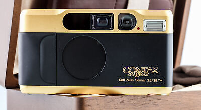 $ CDN2385.70 • Buy Contax T2 Gold 60.Jahre Holzbox SHP 69396