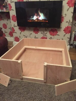 Whelping Box 76 Cm X 76 Cm  Approx. Wooden Box Free Local Delivery Or Postage • 80£