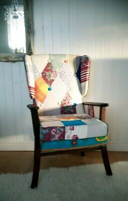 £255 • Buy Beautiful Retro Patchwork Armchair  , Free Delivery Within 50 Miles!