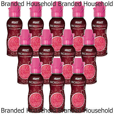 £14.99 • Buy 12 X AIRPURE IN-WASH SCENT BOOSTER INCREDIBALLS FUCHSIA PEARL LAUNDRY BEADS 128G