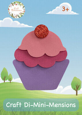 £4.99 • Buy Cupcake Craft Foam Handmade Card Kit For Young Children. Makes 5. Age 3+