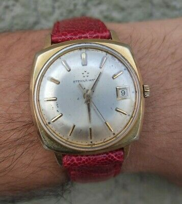 Vintage Eterna Matic Swiss Made Automatic Cal 1424 Mens Watch Works Fine • 187.40£