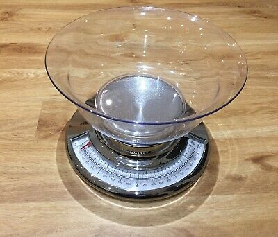 Salter Kitchen Weighing Scales With Bowl - Silver Kitchenalia • 3.49£