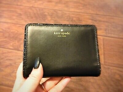 $ CDN50 • Buy Kate Spade Seton Drive Tellie Wallet Black Bifold Wallet