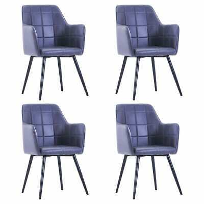 AU382.99 • Buy VidaXL 4x Dining Chairs Grey Faux Suede Leather Dinner Room Seat Furniture