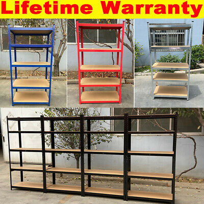 Shelving Unit For Garages And Sheds Racking Storage Shelves Strong Metal 5 Tier • 9.75£