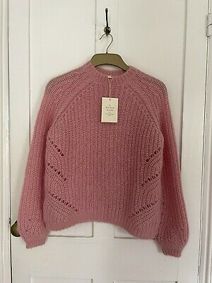 $ CDN136.76 • Buy New With Tags Sezane Dwee Wool & Mohair Pink Jumper Sweater Size S UK 8
