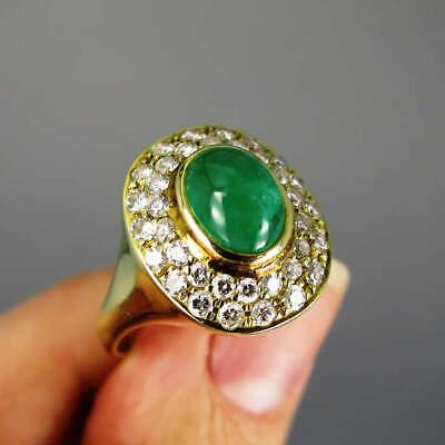 AU2801.70 • Buy Solid Gold Ring With Emerald And Diamonds