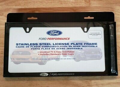 $34.95 • Buy NEW Mustang, F-150, FORD PERFORMANCE Black Stainless Steel License Plate Frame