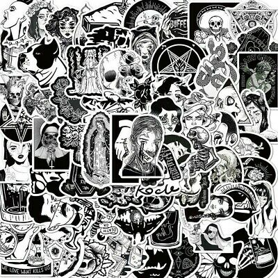 £5.49 • Buy Black And White Unusual Horror Gothic Goth Stickers Laptop Wall Pc Decal VinylUK