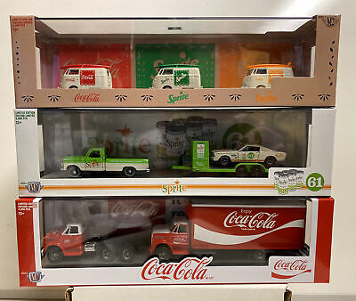 $57.99 • Buy M2 Coca Cola Auto Haulers Release TW06: Complete Set Of 3 Auto Haulers With Cars