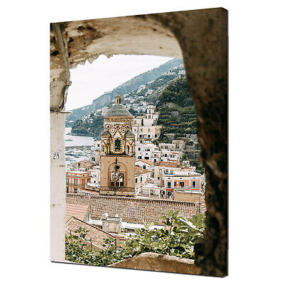 £104.99 • Buy Old City Amalfi Coast In Italy Architecture Modern Canvas Wall Art Print Picture