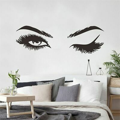 £7.21 • Buy Wall Stickers Vinyl Eyelashes Decals Girls Bedroom Eyebrows Store Beauty Decor
