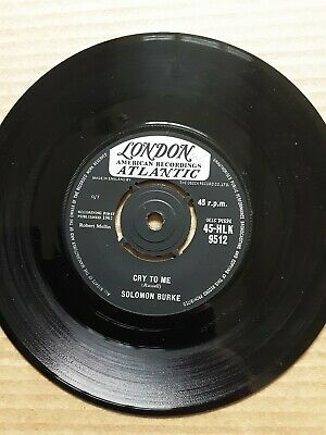 £165 • Buy Solomon Burke Cry To Me UK London 1962 First Issue