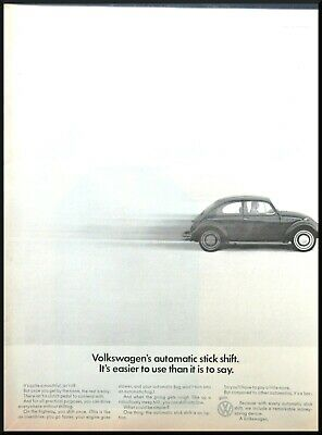 $ CDN12.62 • Buy 1968 VW Beetle Classic Car Photo Automatic Stick Shift 13x10 Vintage Print Ad