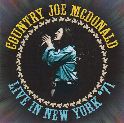 2CD: Country Joe McDonald - Live In New York '71 (2016) NEW Combine Post,save £s • 3.99£