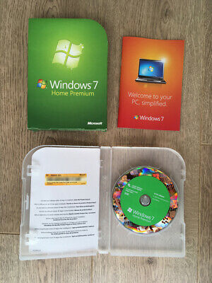 Microsoft Windows 7 Home Premium 64-bit Disc (Upgrade) WITH PRODUCT KEY LICENSE • 16£