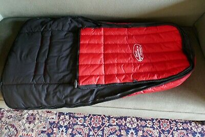 Baby Jogger Original Footmuff For City Mini Single/Double GT Red With Black Trim • 5£