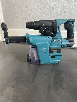 Makita DHR242 18v SDS+ Brushless Hammer Drill With Extractor (Body Only) • 185£