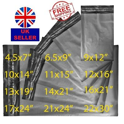 Grey Plastic Parcel Bags 100% RECYCLED Mailing Bag Postal Postage Bag Recyclable • 3.99£