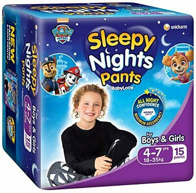 AU74.99 • Buy BabyLove SleepyNight Pants, Size 4-7yrs (18-35kg), 60 Nappies (4x 15 Pack)