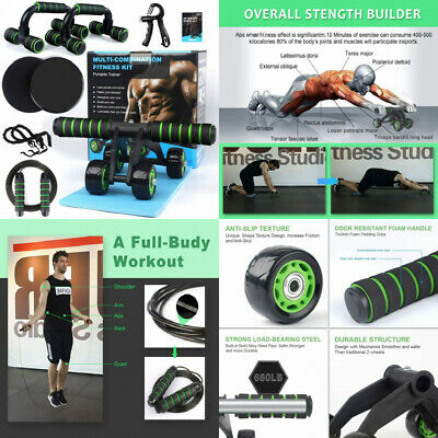 7-in-1 Ab Abdominal Exercise Roller Set With Push-Up Bar, Skipping Rope And...  • 44.39£