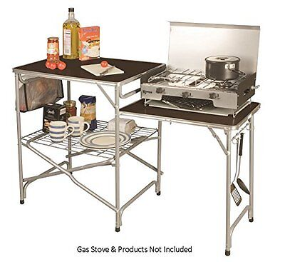 £79.99 • Buy FOLDING CAMPING KITCHEN With Side Table Stand For Field Colonel Kampa