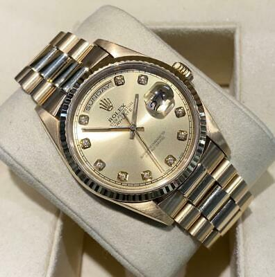 £13500 • Buy Rolex Day Date 18238 Double Quickset 1992 Presidential Diamond Dot Dial Papers