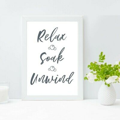 Bathroom Prints Minimalist Wall Funny Art Poster. Quality Toilet Home Pictures • 1.49£